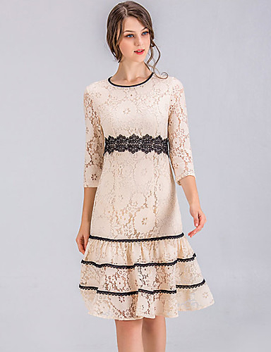 Damen Ausgehen Street Schick Schlank Alinie Kleid