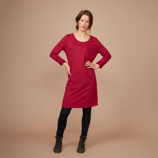 Damen Basic Shirtkleid Biking Red  Damen  Produkte
