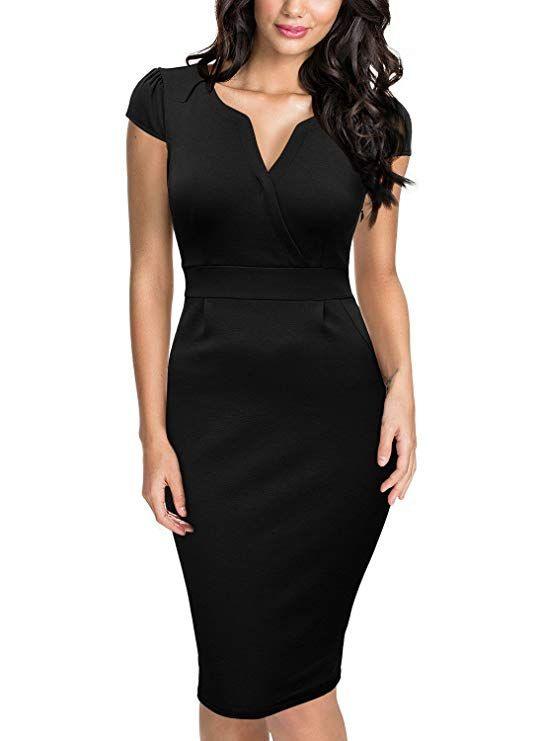Damen Businesskleid Sommer Kleid Cocktailkleid In 2020