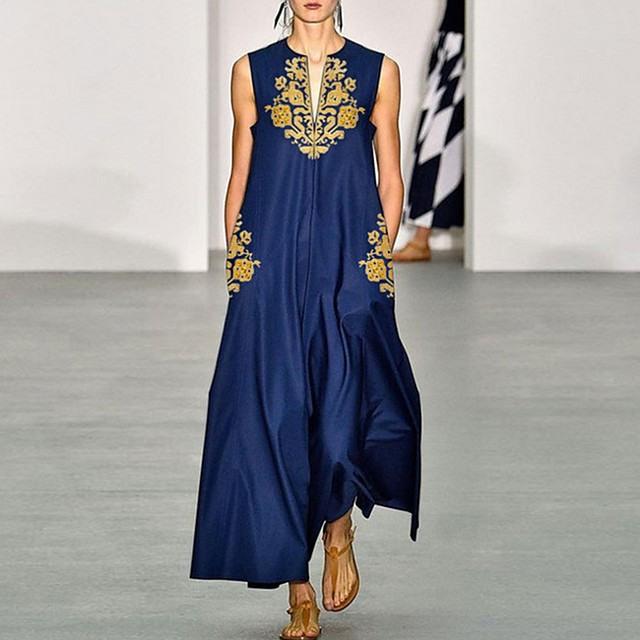 Damen Elegant Alinie Kleid Blumen Maxi 7755516 2020  €2799