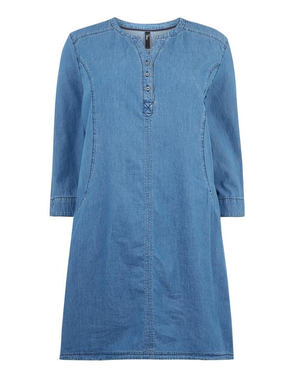 Damen Jeanskleid Mit Regulierbaren Ärmeln Von Takko