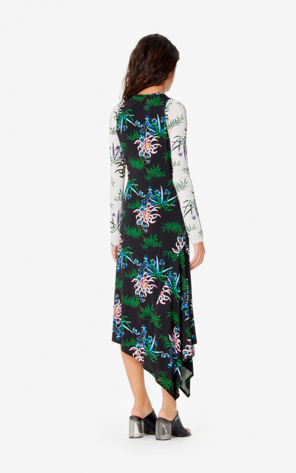 Damen Kenzo Kleider  Langes Kleid 'Sea Lily' Black — Nuerahha