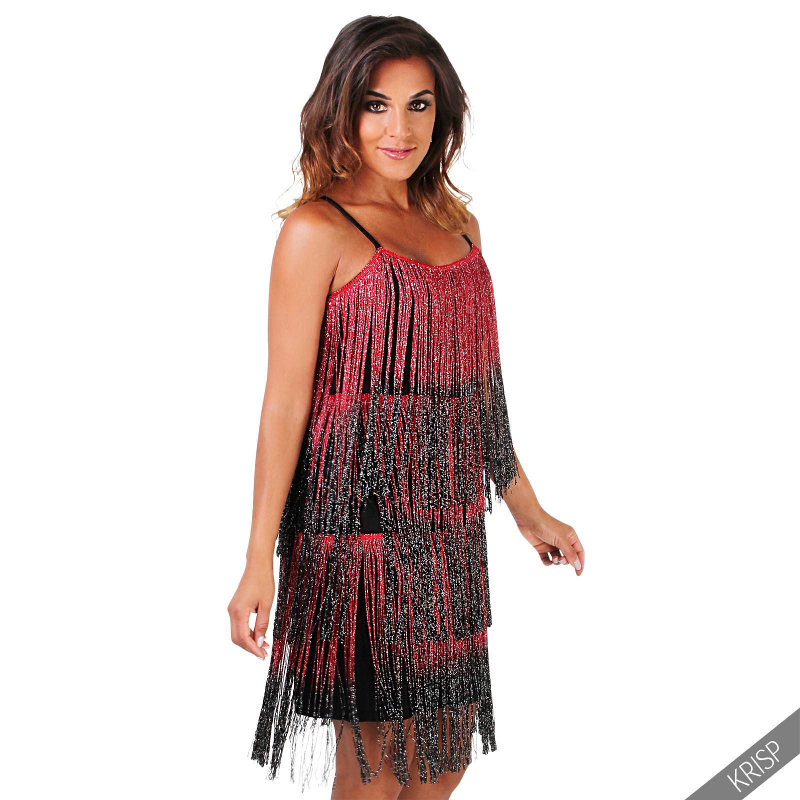 Damen Kleid Fransenkleid 20Er Jahre Swing Charleston