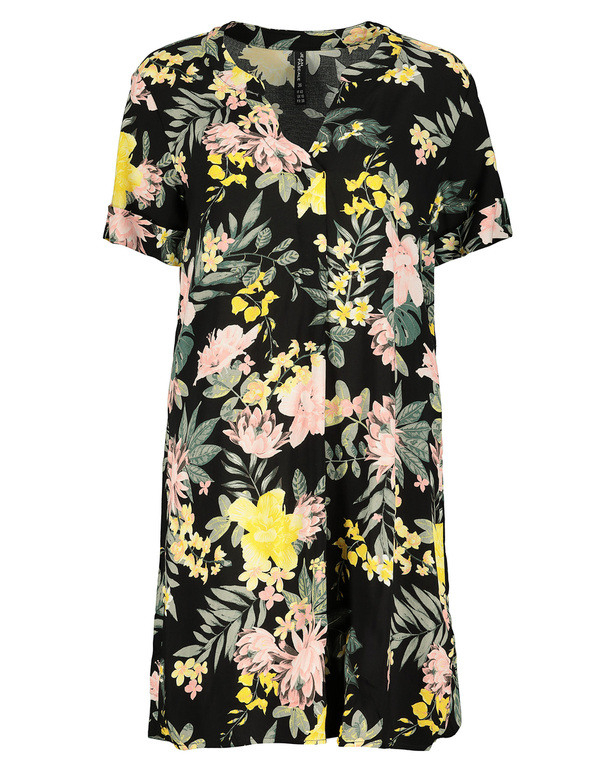 Damen Kleid Mit Floralem Muster Von Takko Fashion Ansehen
