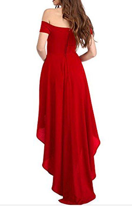 Damen Kleid Rot Festlich  Stylische Kleider Für Jeden Tag