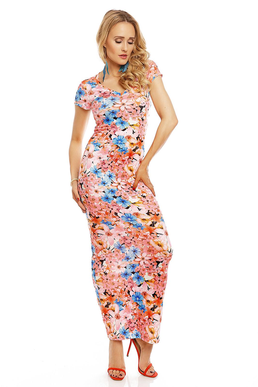 Damen Kleid Sommerkleid Blumenmuster Cocktailkleid