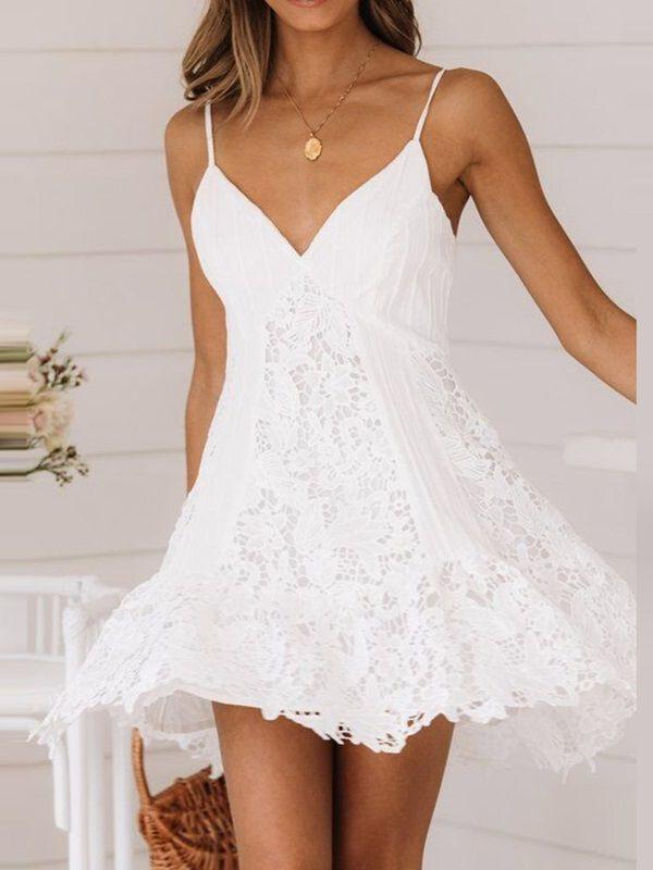 Damen Kleid Sommerkleid Retro Ärmellos  Sommerkleid