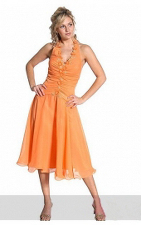 Damen Kleider Wadenlang