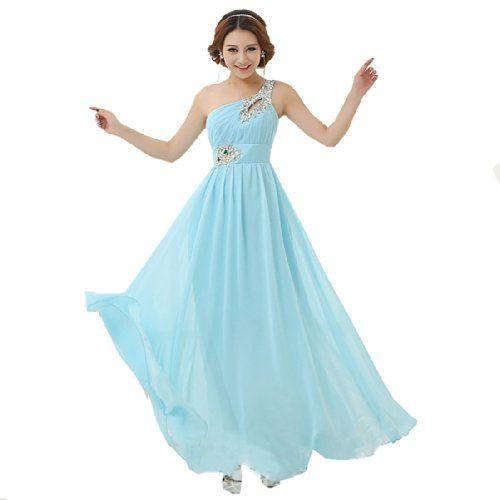 Damen Lange Kleider Mit Einem Eleganten Schultertraeger