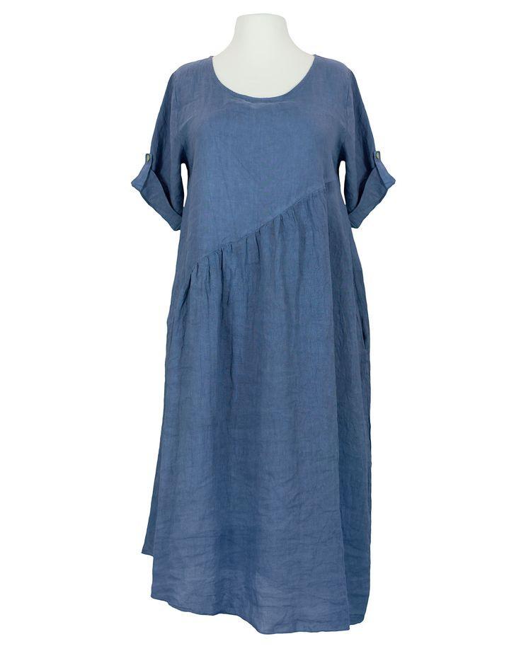Damen Leinenkleid Alinie Blau Von Diana In 2020