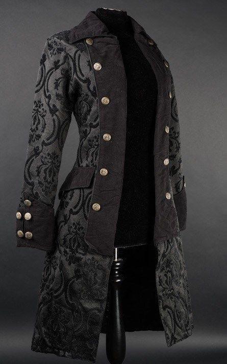 Damen Mantel Jacke Pirate Princess Coat Brokat Victorian