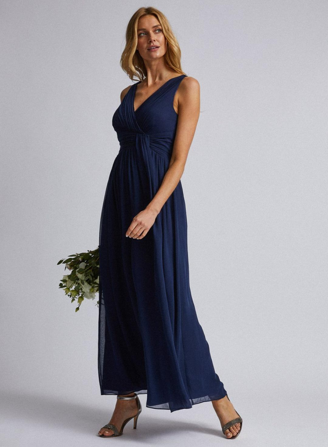 Damen Marineblaues Darcymaxikleid Blau  Showcase