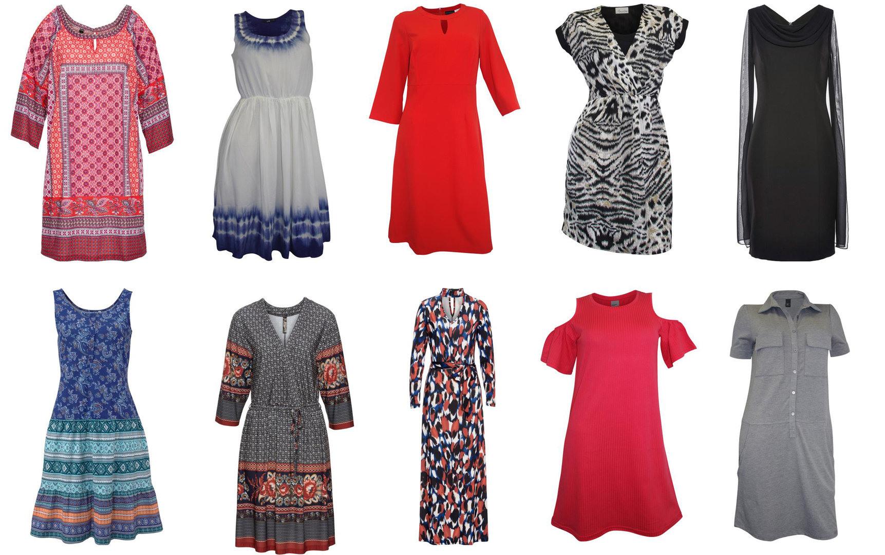 Damen Marken Kleider Mix Sommerkleid Minikleid Maxikleid 1