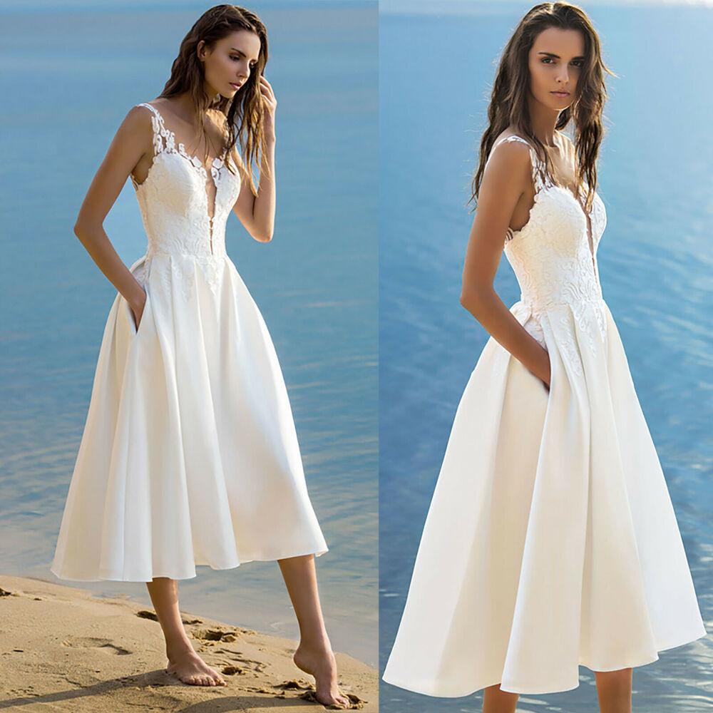 Damen Midi Kleid Sommer Festlich Abend Strand Party
