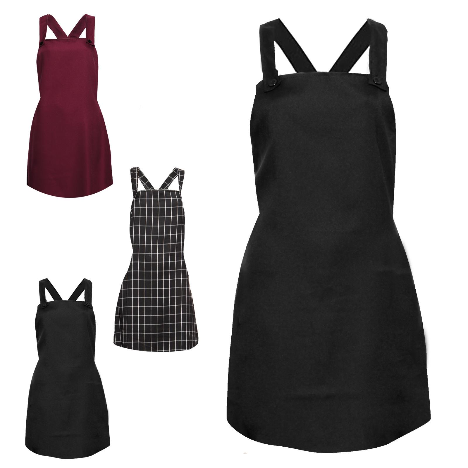 Damen Mini Rock Latz Kleid Latz Rock Träger Kleid Tunika