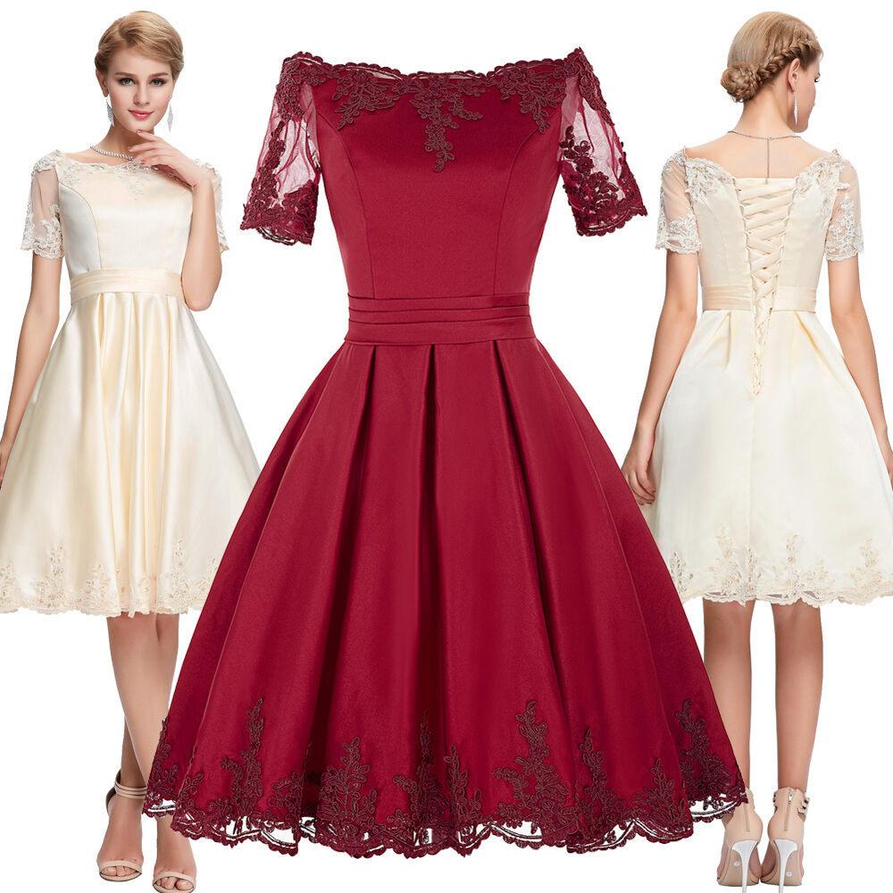 Damen Minikleid 50Er Jahre Tanzkleider Vintage Petticoat