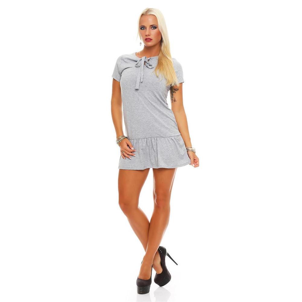 Damen Minikleid Glockenkleid Dress Freizeitkleid Mit