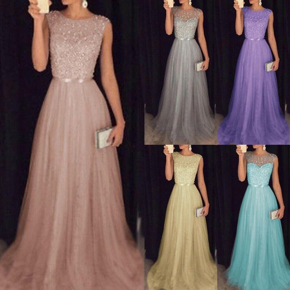 Damen Partykleid Brautjungfern Kleid Ballkleid Abendrobe