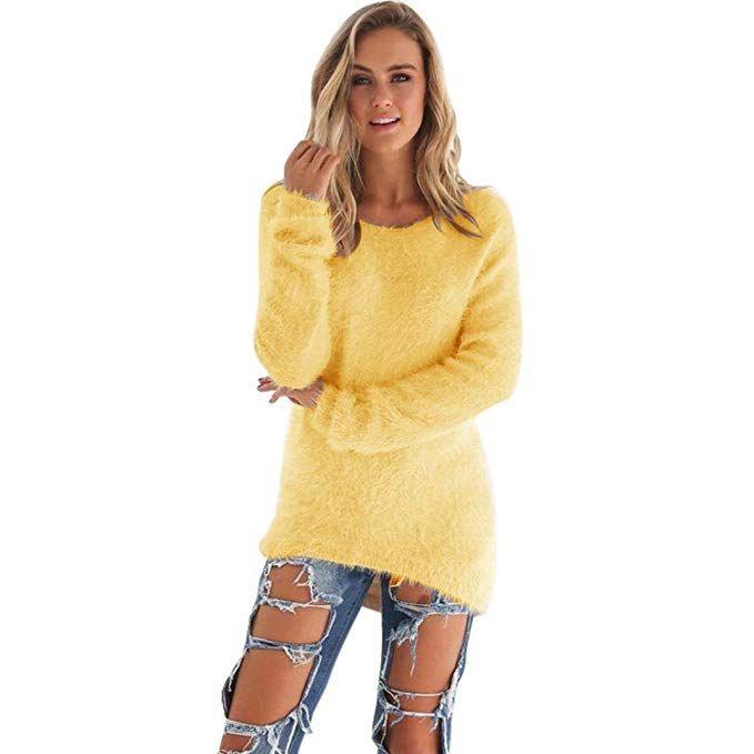 Damen Pullover Kleiddasongff Mode Frauen Langarm