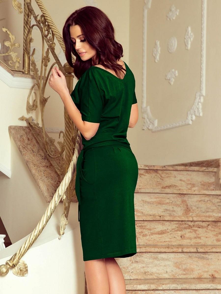 Damen Retro Kleid 2492 Smaragdgrün