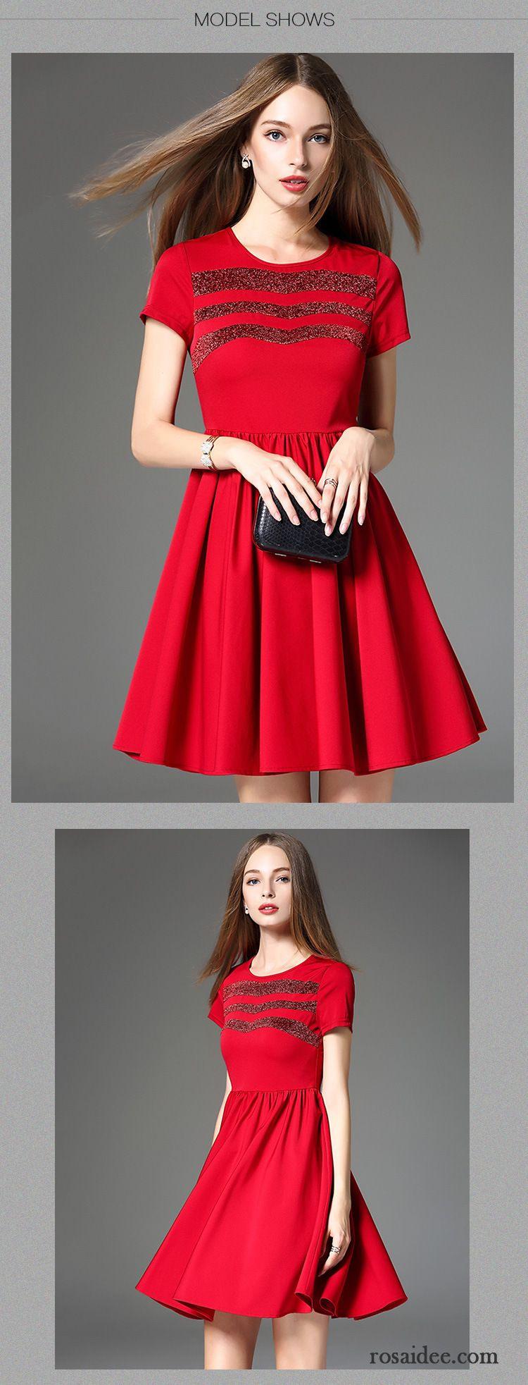Damen Sommerkleider Lang Marke Herbst Schönheit Neu Rote