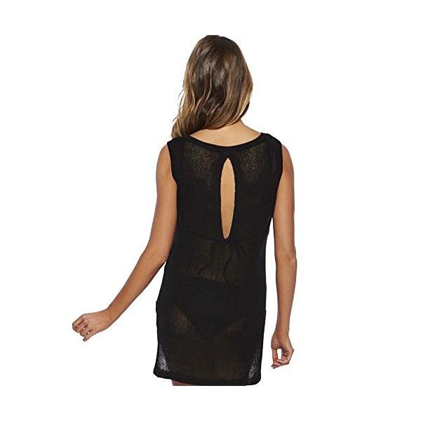 Damen Strandkleid Strandhemd Tunika Fashion Schwarz