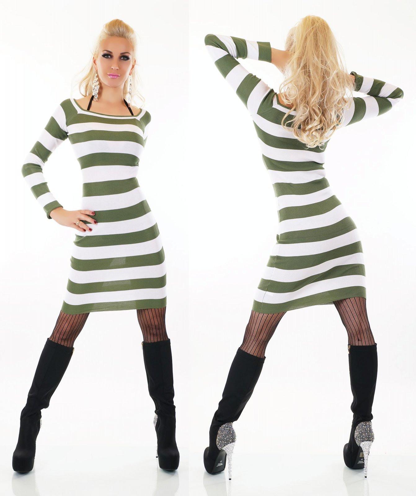 Damen Strick Kleid Minikleid Long Pullover Pulli Longshirt