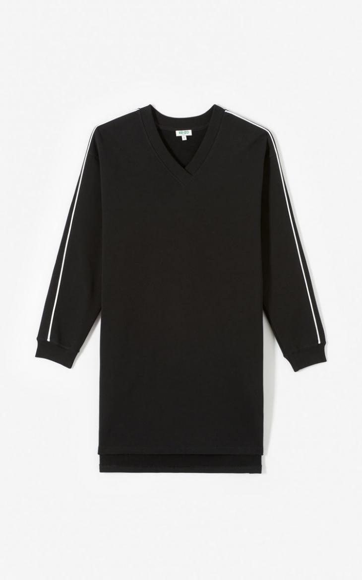 Damen Sweatshirtkleid Kenzologo Black  Kenzo Kleider