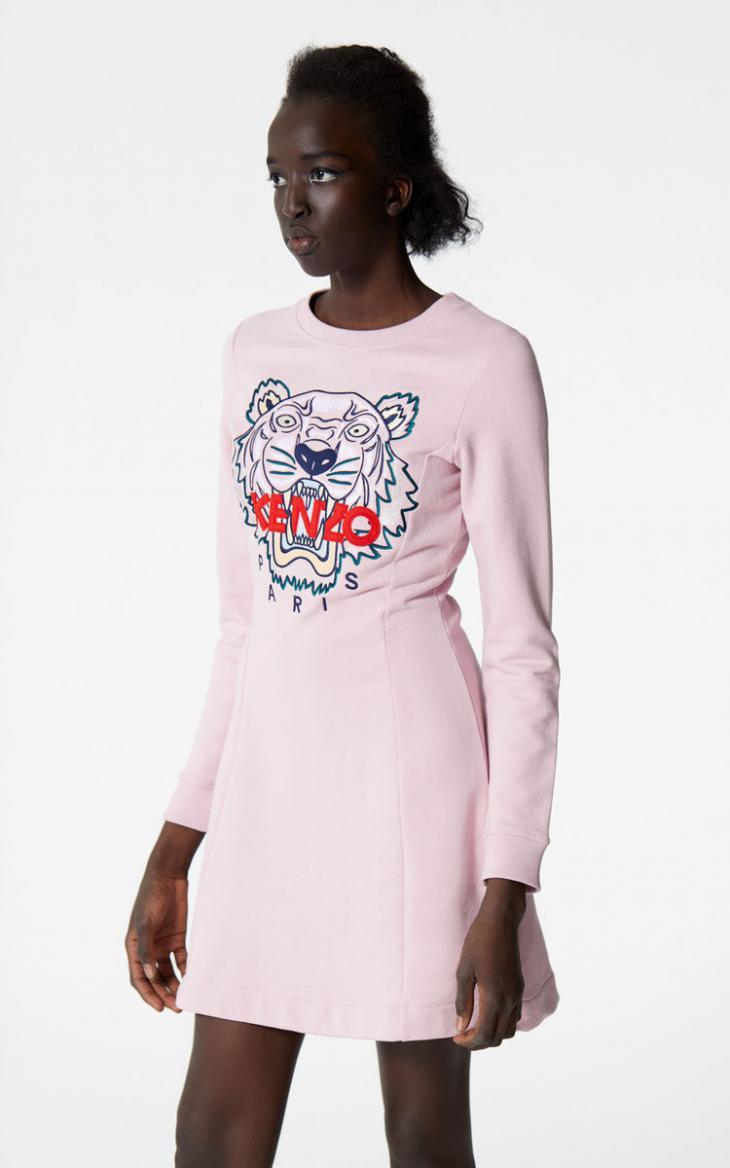 Damen Sweatshirtkleid Tiger Pastel Pink  Kenzo Kleider