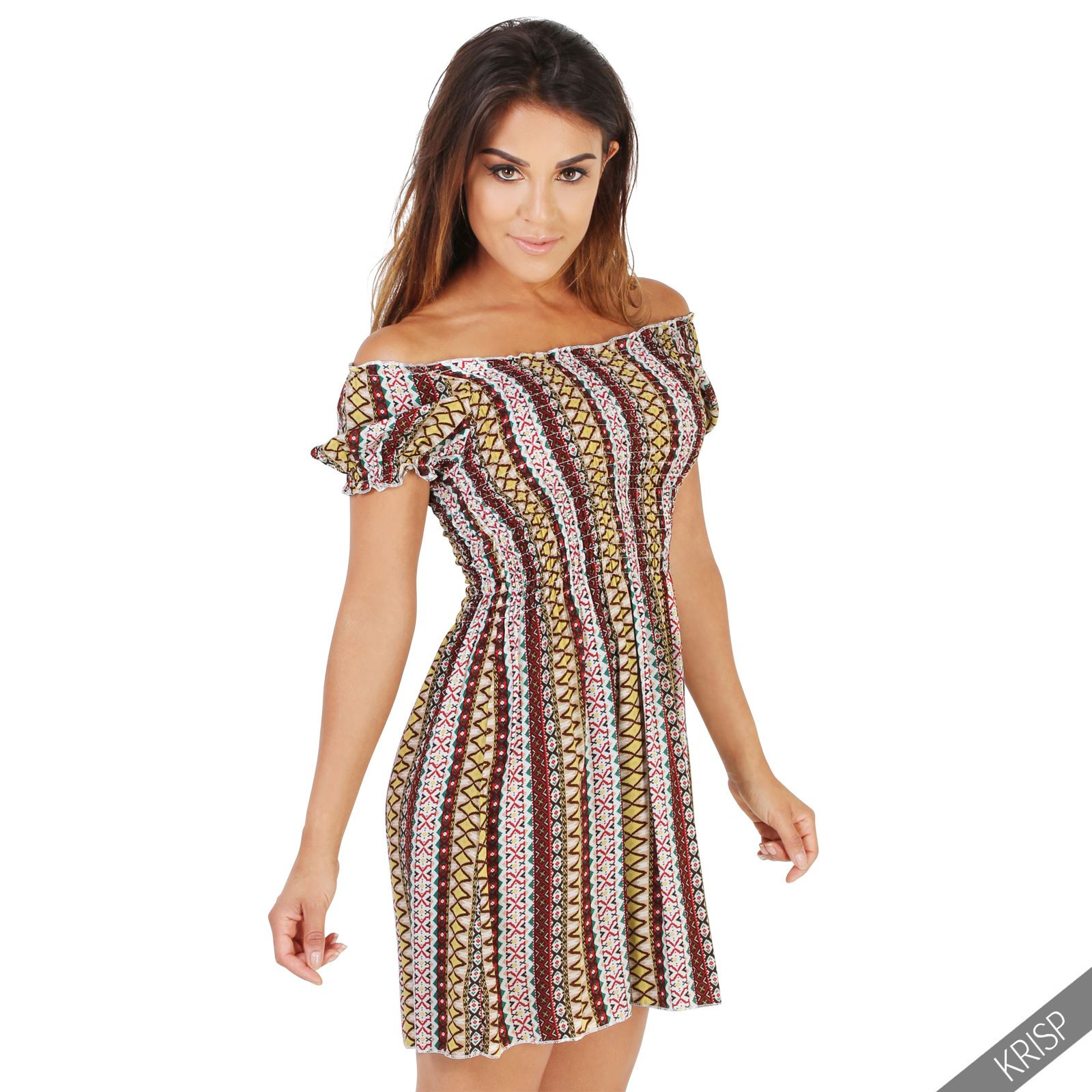 Damen Tunika Kleid Minikleid Longtop Trachten Folklore