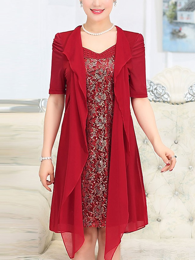 Damen Übergrössen Freizeit Baumwolle Lose Swing Kleid