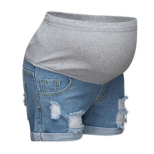 Damen Umstandsmode Schwangere Jeans Umstandsshorts Kurze