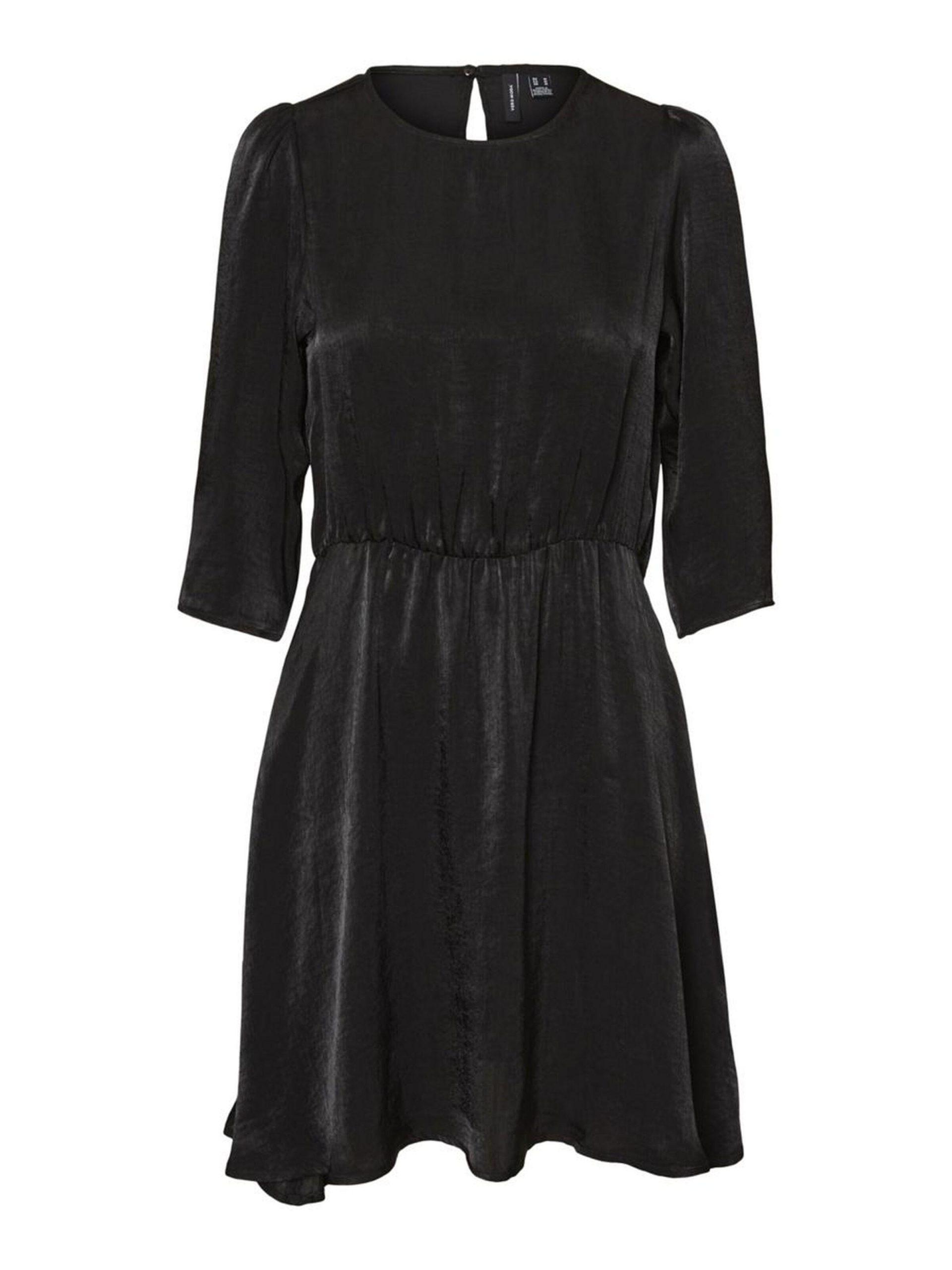 Damen Vero Moda Kleider  3/4Ärmel Minikleid Schwarz