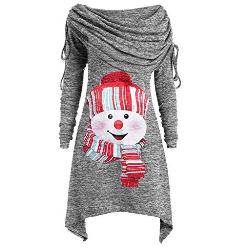 Damen Weihnachten Sweatshirt Langarmshirts Kleidung