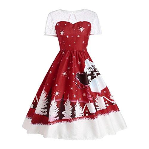 Damen Weihnachtskleid Sonnena Vintage Christmas Dress