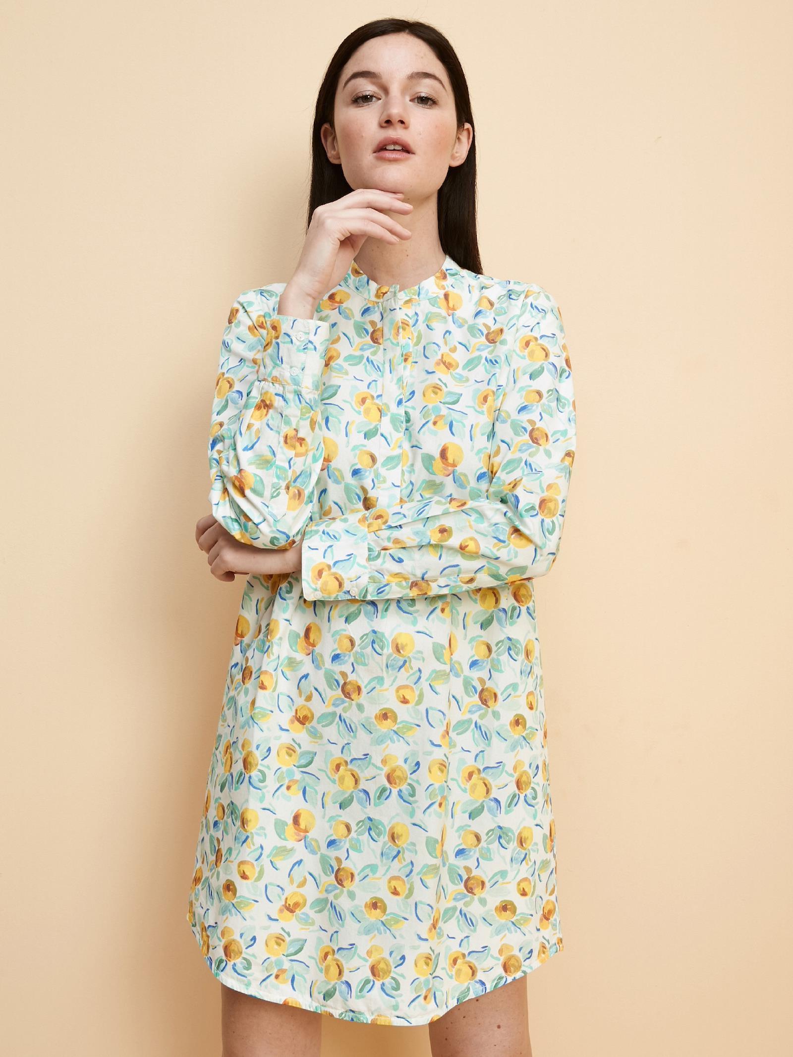 Damenhemdkleid Mit Zitronenprint Damen