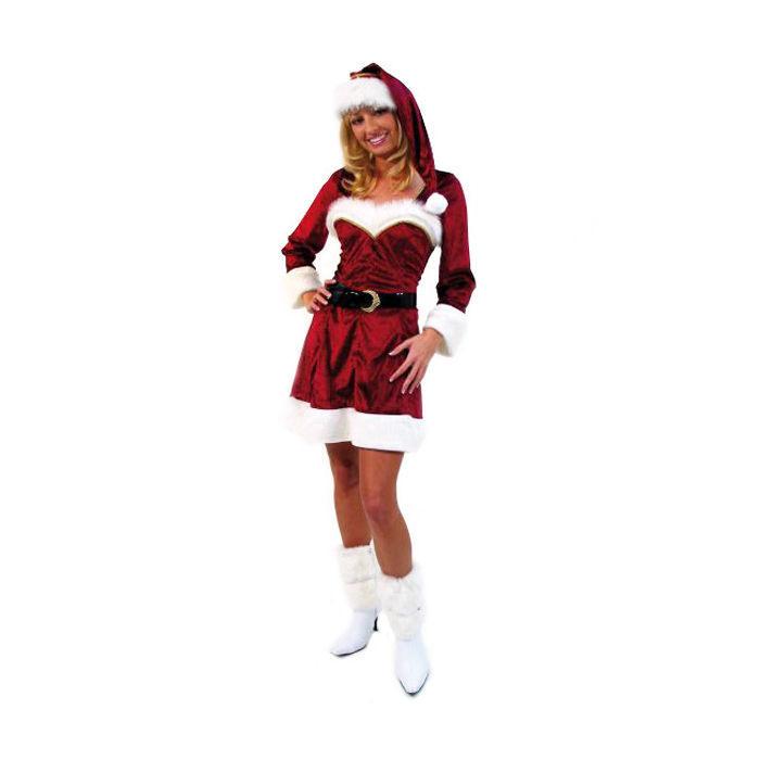 Damenkostüm Weihnachtskleid Weinrot Gr 4446