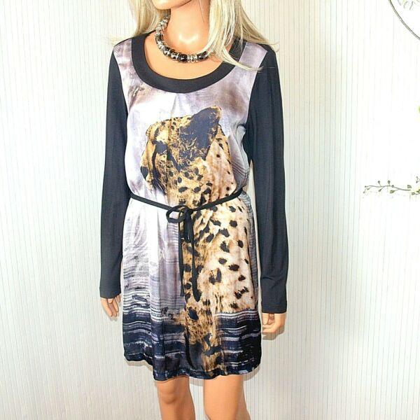 Damenmode Chillytime Kleid Leoprint Animaldruck Allover