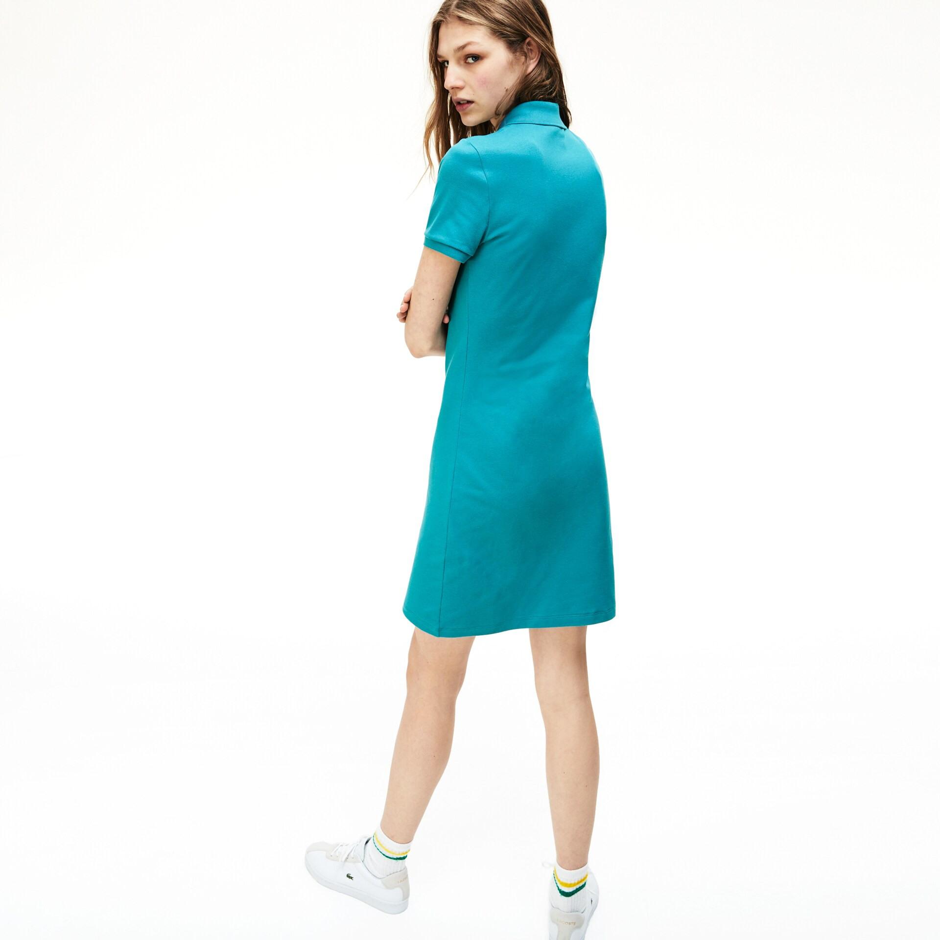 Damenpolokleid Aus Baumwollminipiqué Mit Stretch  Lacoste