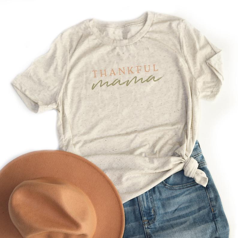 Dankbar Mama Damen Tshirt Dankbar Emother Kleidung