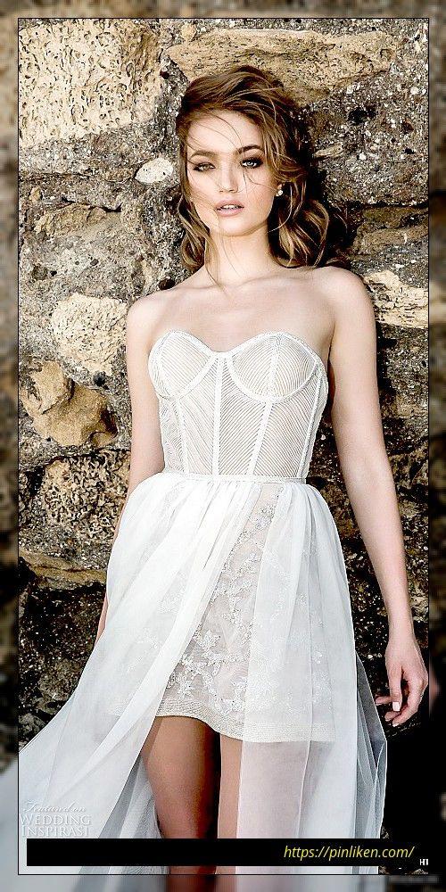 Dany Mizrachi 2018 Brautkleider  Kurze Hochzeitskleider