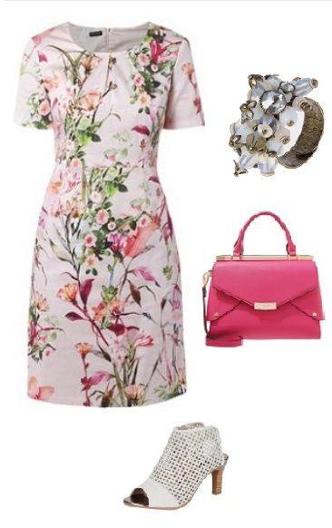 Das Florale Muster Auf Dem Kleid Von Gerry Weber Lockt Den