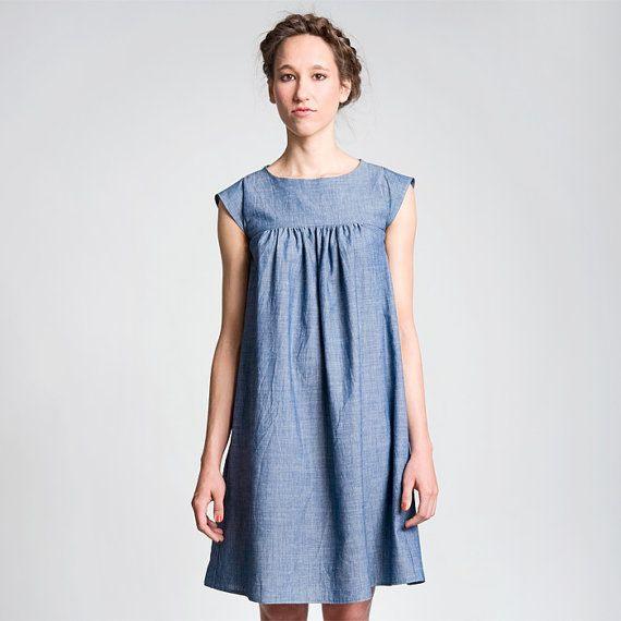 Das Kleid Hannah Ist Ein Hängerkleid Mit Raffung Im Vorder
