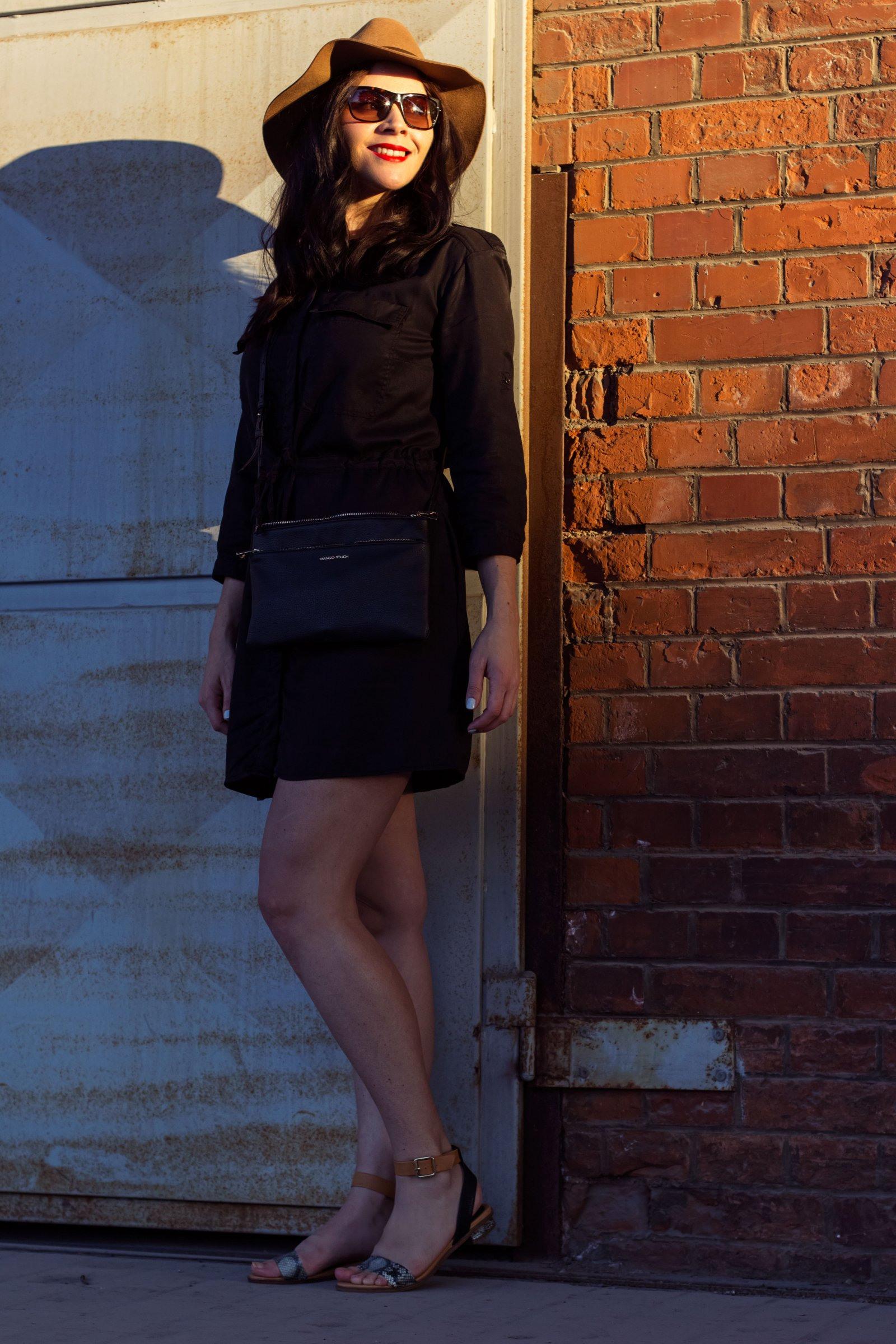 Das Schwarze Hemdkleid  Kleidermädchen Fashion Beauty