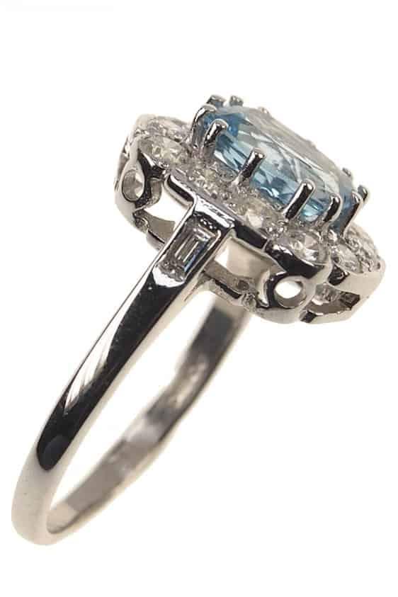 Datiert 1949  18 Ct Gold Vintage Ring / Verlobungsring