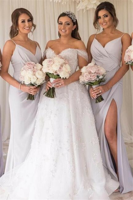 Designer Brautjungfernkleider Lang Günstig  Kleider Für