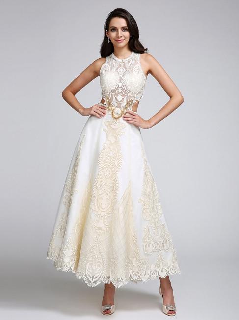 Designer Brautkleider A Linie  Kurze Hochzeitskleider