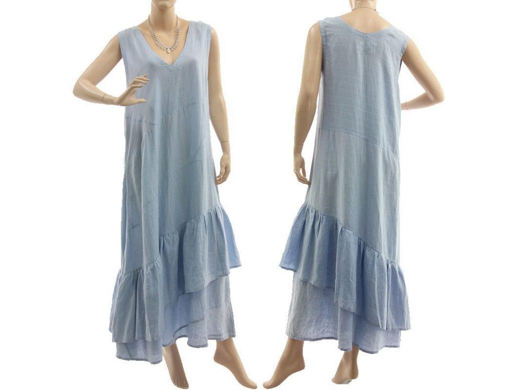 Designer Genial Langes Kleid Hellblau Design  Abendkleid