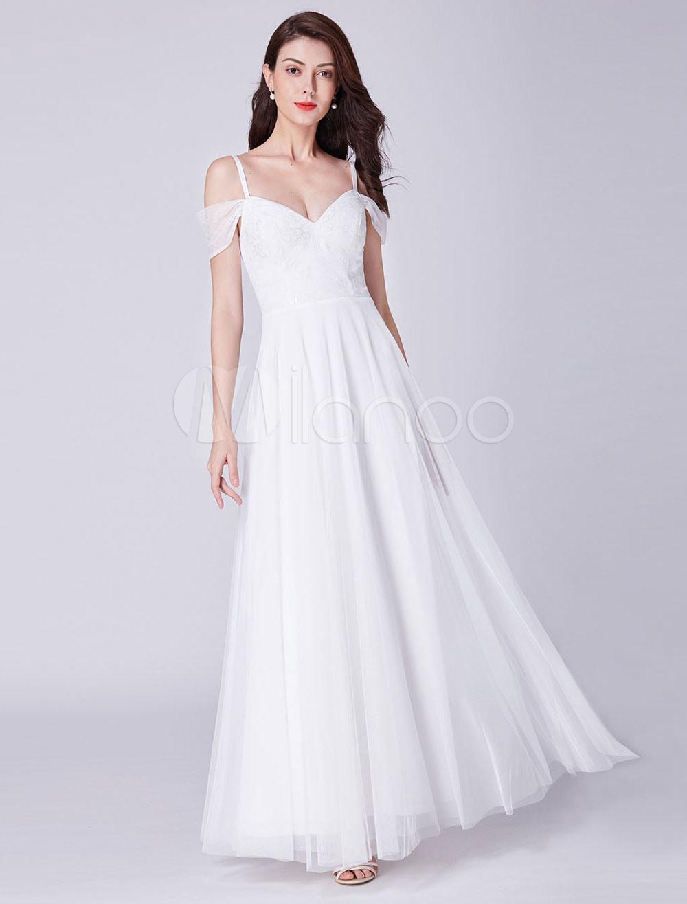 Designer Luxurius Ballkleid Weiß Lang Vertrieb  Abendkleid