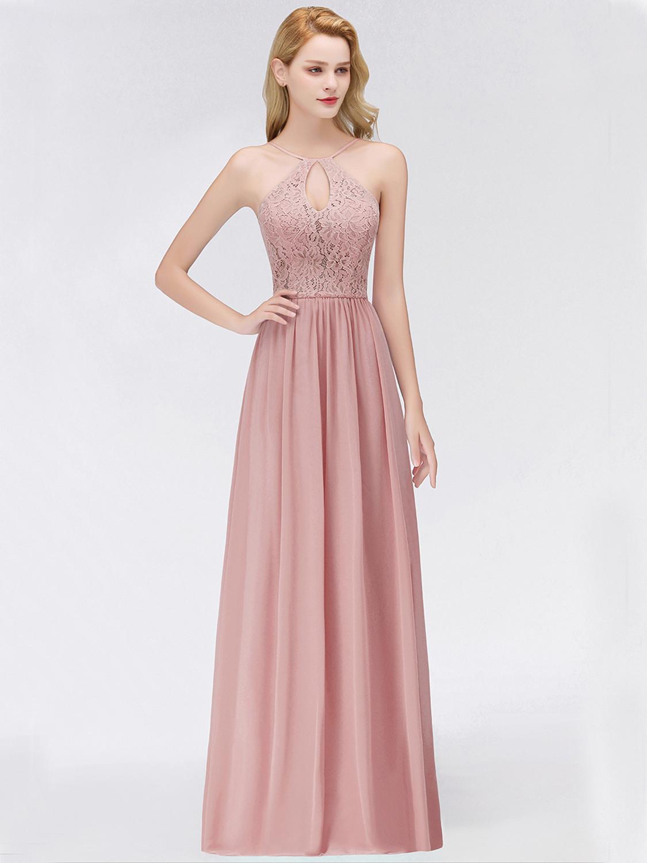 Designer Perfekt Altrosa Kleid Lang Stylish  Abendkleid